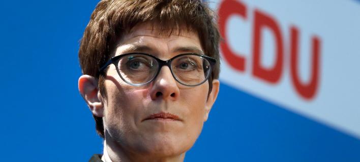 Η Γ.Γ. του CDU, Ανεγκρέτ Κραμπ Καρενμπάουερ (Φωτογραφία: ΑΡ/Michael Sohn)