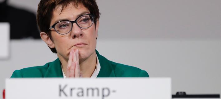 H πρόεδρος των Γερμανών Χριστιανοδημοκρατών, Ανεγκρέτ Κραμπ Καρενμπάουερ (Φωτογραφία: AP/Markus Schreiber)