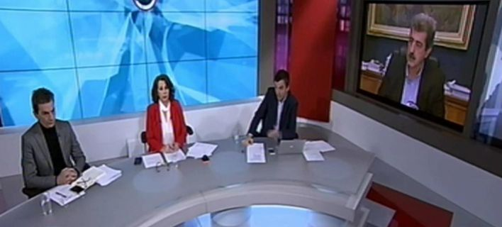 Στιγμιότυπο από την εκπομπή στην ΕΡΤ