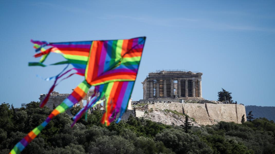 Με χαρταετούς γέμισε ο ουρανός της Αθήνας!