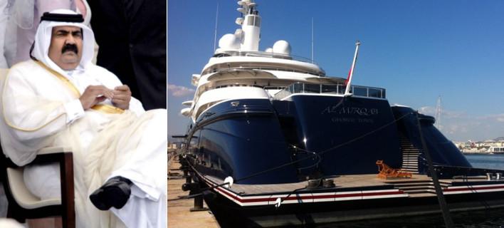 Το πλωτό παλάτι του Εμίρη του Κατάρ στην Ψαρρού -Γιοτ εξωπραγματικής χλιδής [βίντεο]