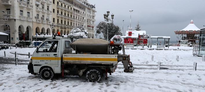χιόνι στη Θεσσαλονίκη/Φωτογραφία: Eurokinissi