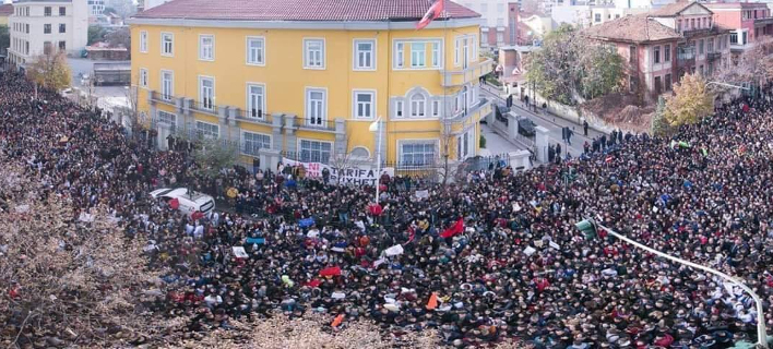 Oι μεγαλύτερες διαδηλώσεις έγιναν στα Τίρανα, αλλά και άλλες πόλεις της Αλβανίας