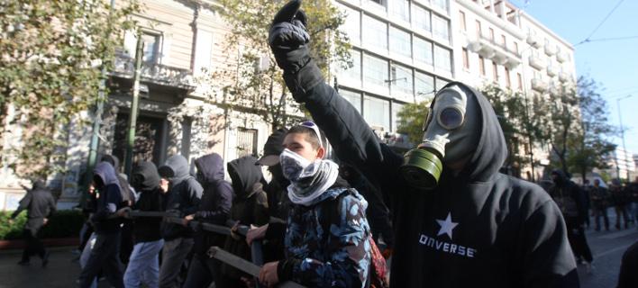 Από μαθητική πορεία για τον Αλέξανδρο Γρηγορόπουλο / Φωτογραφία: EUROKINISSI