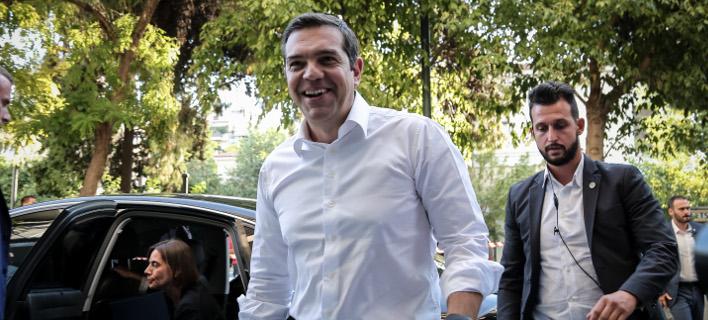 Ο Αλέξης Τσίπρας στην Πολιτική Γραμματεία του ΣΥΡΙΖΑ /Φωτογραφία: EUROKINISSI