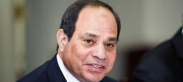 Ο προέδρου της Αιγύπτου,  Άμπντελ Φάταχ αλ Σίσι // Φωτογραφία: AP