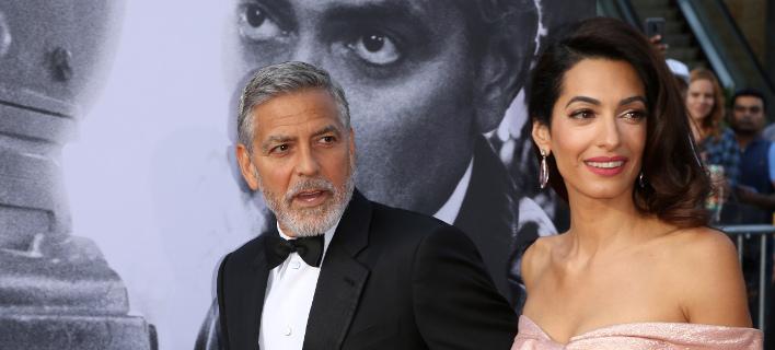Ο Τζόρτζ Κλούνεϊ και η Αμαλ Αμαμουντιν/ Φωτογραφία AP images