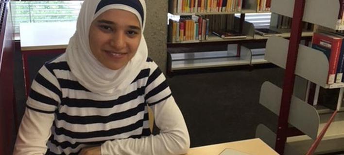 Η 19χρονη Σύρια προσφυγοπούλα Αμαρ, στην Κολωνία -Φωτογραφία: DW/M. Rigoutsou