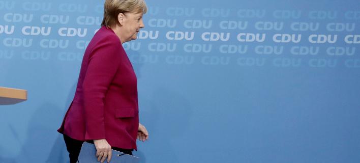 Η Γερμανίδα καγκελάριος Άνγκελα Μέρκελ (Φωτογραφία: Kay Nietfeld/dpa via AP)