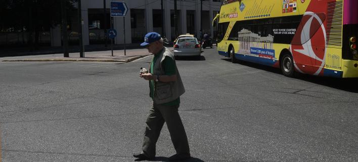 Στιγμιότυπο από το κέντρο της Αθήνας/Φωτογραφία: Eurokinissi