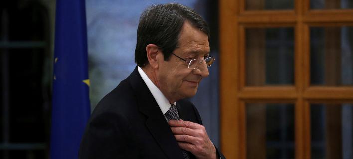 Ο Νίκος Αναστασιάδης (Φωτογραφία: AP Photo/Petros Karadjias)