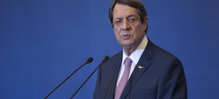Ο Νίκος Αναστασιάδης ανακοίνωσε την υποψηφιότητά του (Φωτογραφία: MOTIOTEAM/ ΒΑΣΙΛΗΣ ΒΕΡΒΕΡΙΔΗΣ)