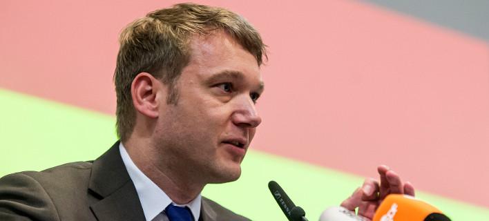 Ο επικεφαλής της AfD στο κρατίδιο Σαξονία-Άνχαλτ, Άντρε Πόγκενμπουργκ (Φωτογραφία: ΑΡ)