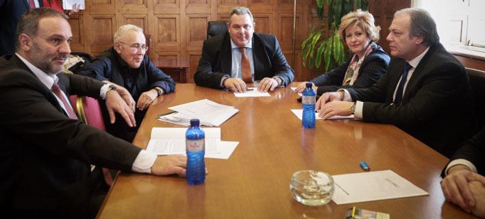 Στιγμιότυπο από τη συνεδρίαση της ΚΟ των ΑΝΕΛ / Φωτογραφία: Eurokinissi