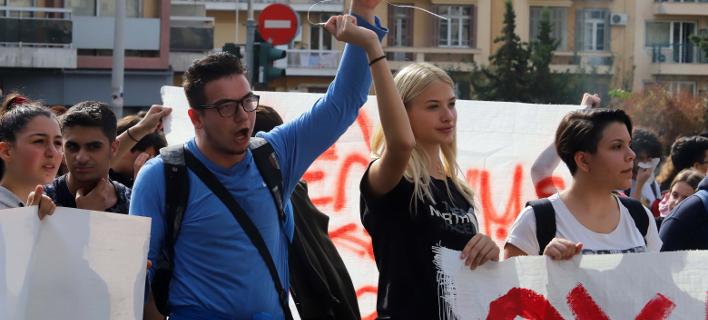 Πρόσφατη κινητοποίηση νέων στην Θεσσαλονίκη / Φωτογραφία: Τρυψάνη Φανή/EUROKINISSI
