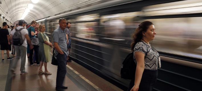 Στιγμιότυπο από τη Μόσχα (Φωτογραφία: AP Photo/Frank Augstein)