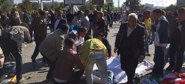 Μακελειό με δύο εκρήξεις στην Αγκυρα -Δεκάδες νεκροί και τραυματίες [εικόνες & βίντεο]