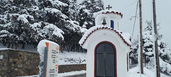 Χιόνια στην Κρήτη / Φωτογραφία: Βασίλης Σμπώκος/facebook