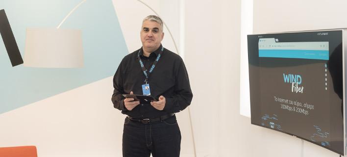 Φωτογραφία: Ο Γενικός Διευθυντής Σταθερής Τηλεφωνίας και Εταιρικών Πελατών της WIND κ. Αντώνης Τζωρτζακάκης