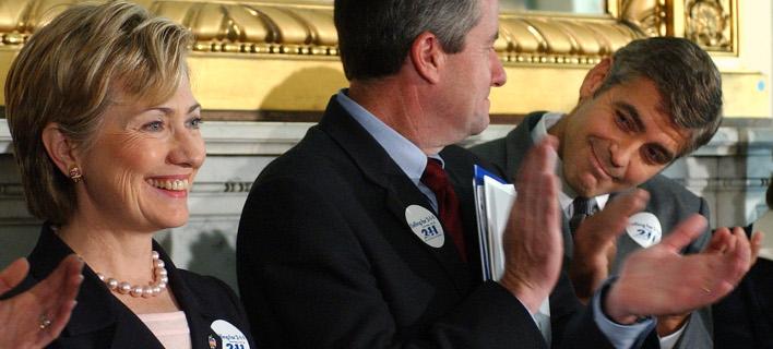 Απογοητευμένος από τη Χίλαρι δηλώνει ο Τζορτζ Κλούνει, φωτογραφίες: AP images