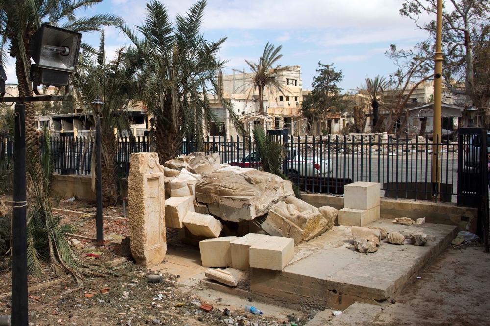 Αποκατέστησαν το 15 τόνων άγαλμα-σύμβολο που κατέστρεψε το ISIS