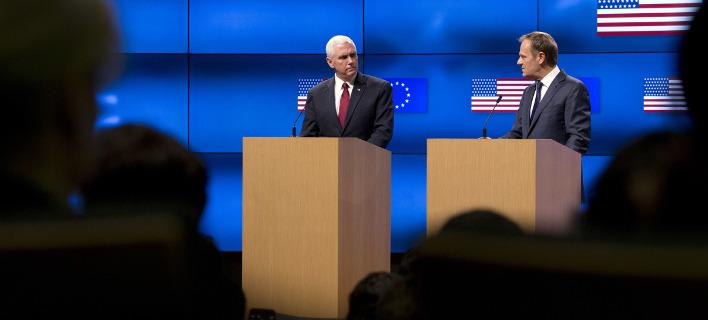 Δέσμευση Αμερικανού αντιπροέδρου για συνεργασία και εταιρική σχέση με την ΕΕ