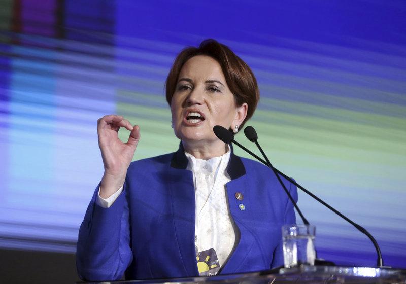 Η Μεράλ Ακσενέρ, επικεφαλής του εθνικιστικού κόμματος Iyi Parti