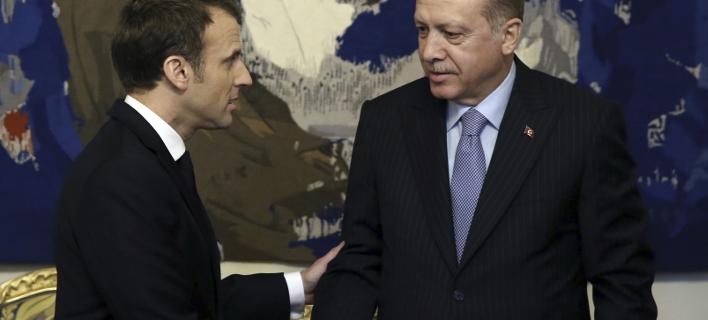 Μακρόν σε Ερντογάν: Να σέβεσαι την κυριαρχία της Κύπρου