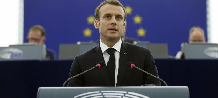 Ο Μακρόν μιλάει στο Ευρωκοινοβούλιο για το μέλλον της Ευρώπης