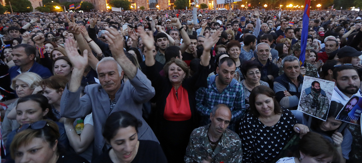 Από τις 13 Απριλίου η Αρμενία έχει βυθιστεί σε μια πρωτοφανή πολιτική κρίση, φωτογραφία: apimages
