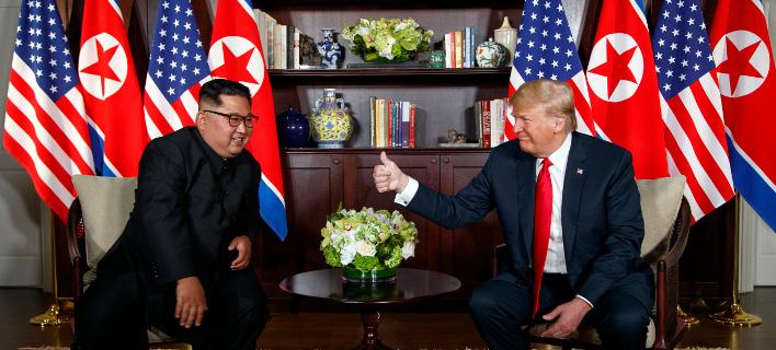 O Κιμ Γιονγκ Ουν και ο Ντόναλντ Τραμπ /Φωτογραφία AP images