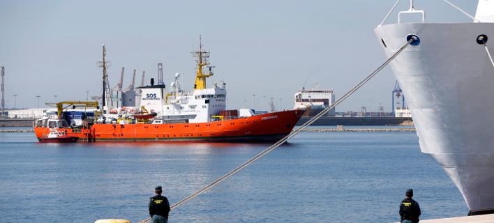 Το πλοίο «Aquarius» /Φωτογραφία AP images