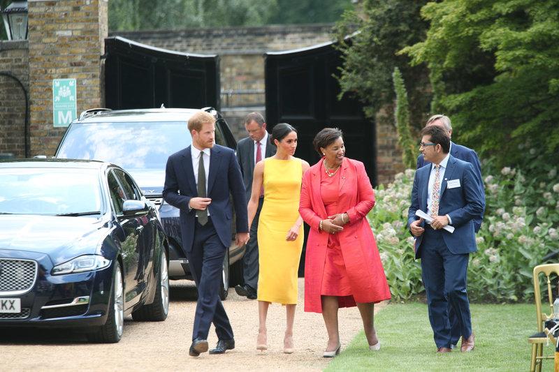 Η Μέγκαν Μαρκλ και ο πρίγκιπας Χάρι σε εκδήλωση της Κοινοπολιτείας