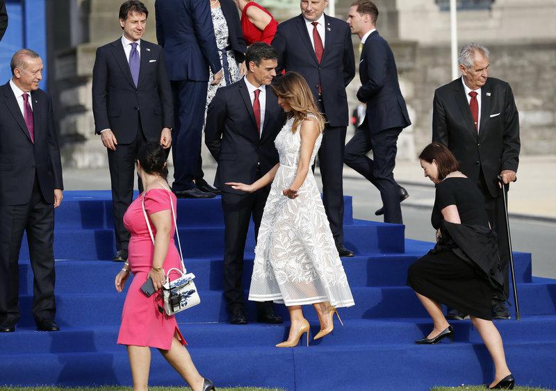 Ο Ταγίπ Ερντογάν θαύμασε τον τρόπο που ισορροπούσε στα τακούνια της