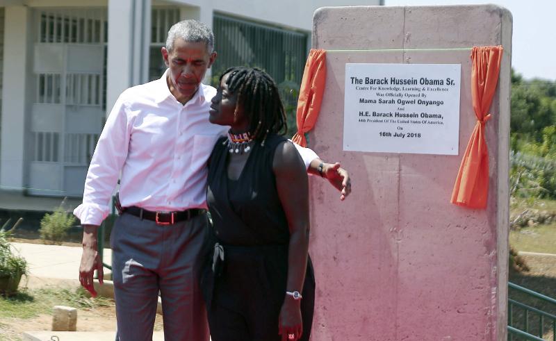 Το κέντρο είναι δημιούργημα της ετεροθαλούς αδελφής του Μπαράκ, δρ. Αούμα Ομπάμα