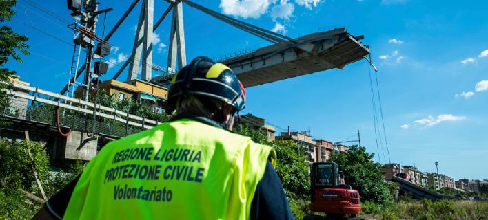 Γέφυρα στη Γένοβα/ Φωτογραφία AP images