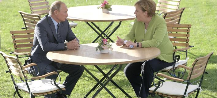 «Η συνεργασία με τη Ρωσία είναι απαραίτητη», τόνισε η Μέρκελ, φωτογραφία: apimages