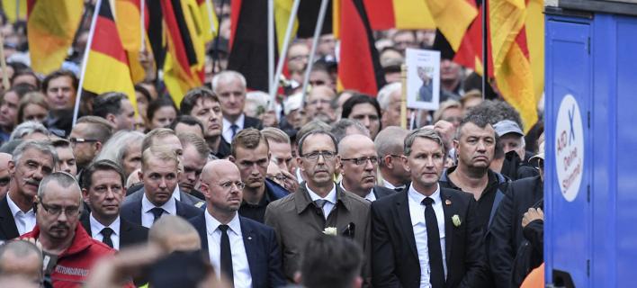 Οργανώθηκε ακόμα μία διαδήλωση από αριστερά κινήματα, φωτογραφία: apimages