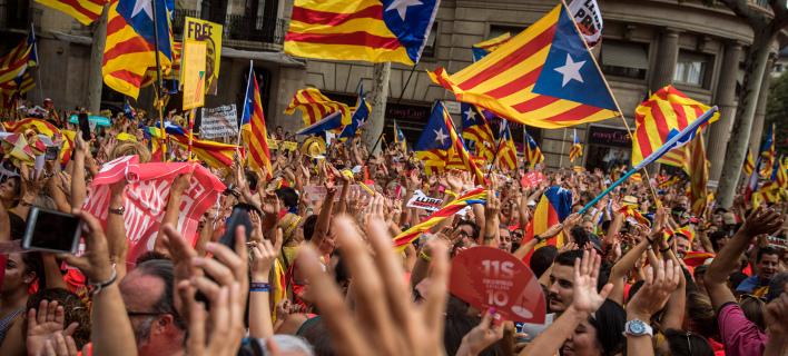 Διαδηλώσεις Καταλανών /Φωτογραφία AP images