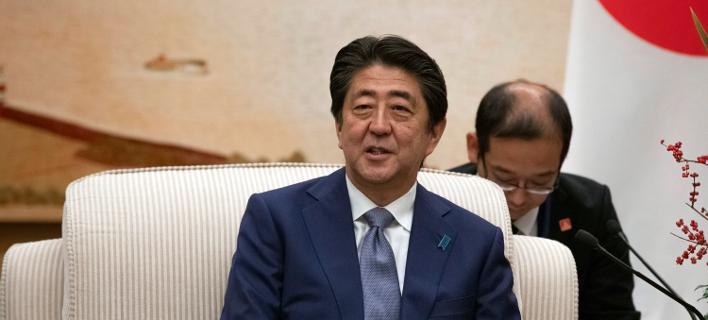 Ο Ιάπωνας πρωθυπουργός Σίνζο Άμπε/ φωτογραφία: ap