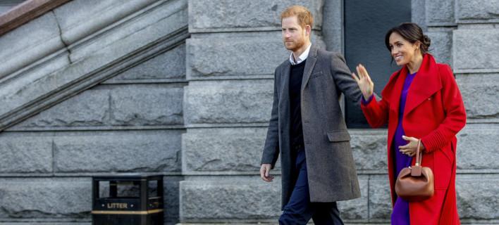 Ο πρίγκιπας Χάρι και η Μέγκαν Μαρκλ /Φωτογραφία: AP