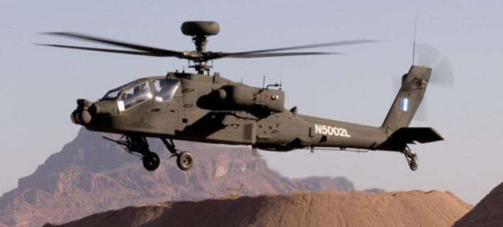Επεσε ελικόπτερο Aπάτσι στη Βόρεια Ελλάδα