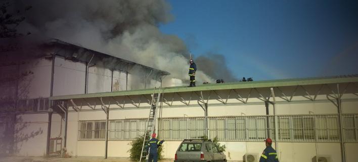 Η φωτιά που ξέσπασε σήμερα στο Πανεπιστήμιο Κρήτης