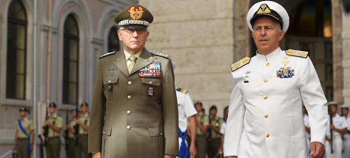Επίσημη επίσκεψη του αρχηγού ΓΕΕΘΑ (δεξιά) στην Ιταλία (Φωτογραφία: ΓΕΕΘΑ)