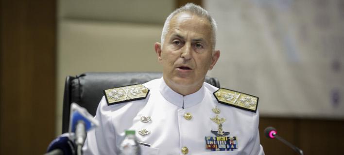 Ο αρχηγός ΓΕΕΘΑ ναύαρχος Ευάγγελος Αποστολάκης /Φωτογραφία: Εurokinissi