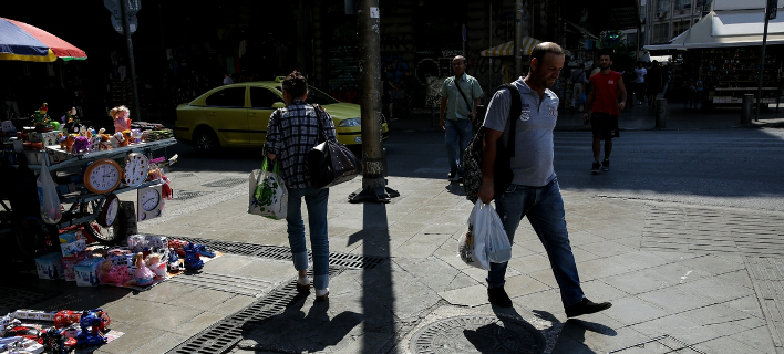 Στιγμιότυπο από το κέντρο της Αθήνας-Φωτογραφία: SOOC/George Vitsaras