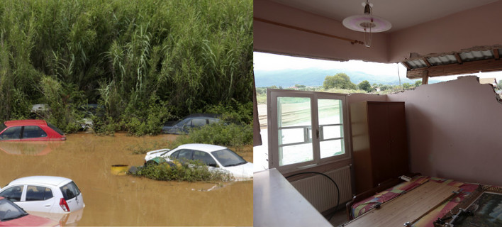 Αρμαγεδδών στη Β.Ελλάδα -Αυτοκίνητα επιπλέουν στο νερό, χάθηκαν περιουσίες [εικόνες]