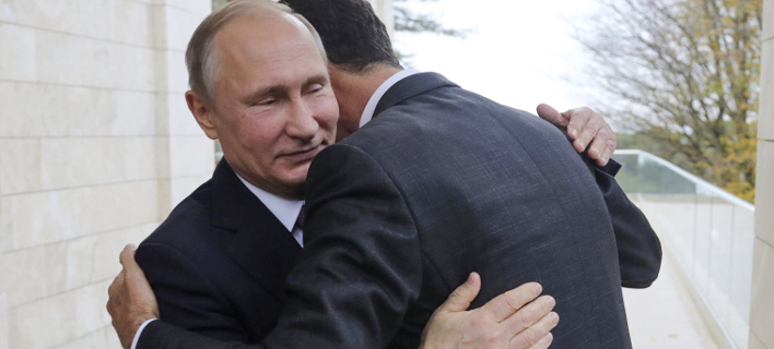 Ο Πούτιν με τον Ασαντ (Φωτογραφία: AP/ Mikhail Klimentyev)