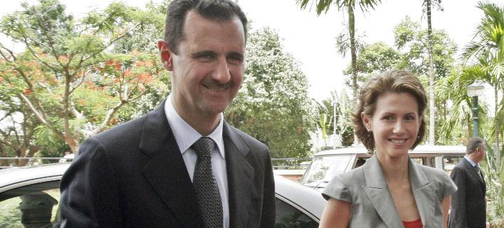 Ο Μπασάρ αλ Ασαντ με τη σύζυγό του, Ασμα (Φωτογραφία: AP/ Aijaz Rahi)