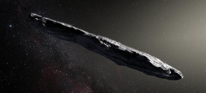 O αστεροειδής Oumuamu (καλλιτεχνική απεικόνιση:ESO-M. Kornmesser)